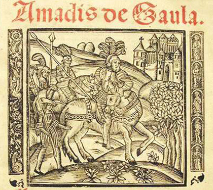 image of Amadis from the frontispiece of a 1533 Spanish edition